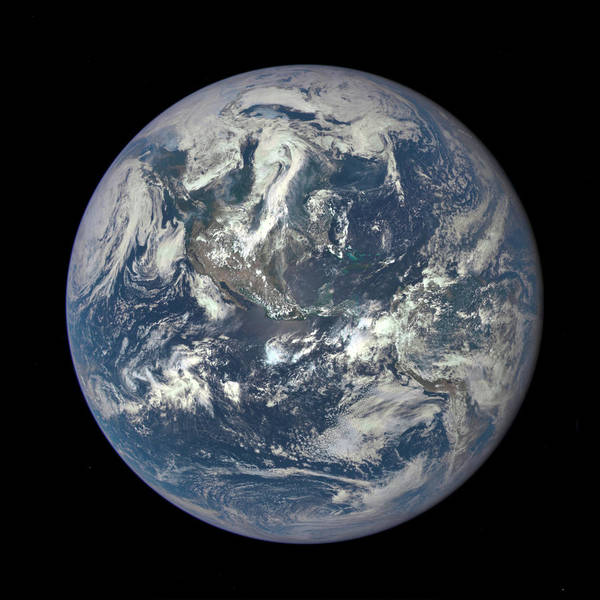 Photograph - Nasa Captures Epic Earth Image by Artistic Panda