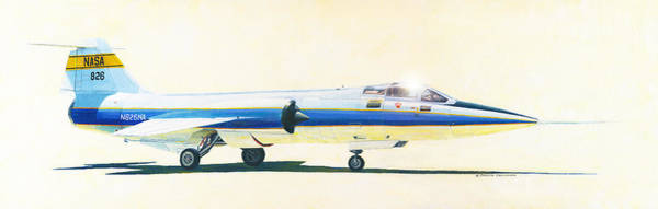Painting - Nasa F-104 Starfighter  by Douglas Castleman