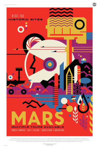 Digital Art - Nasa Mars Poster Art Visions Of The Future by Erik Paul