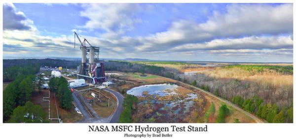 Nasa Msfc Hydrogen Test Stand - Original Art Print