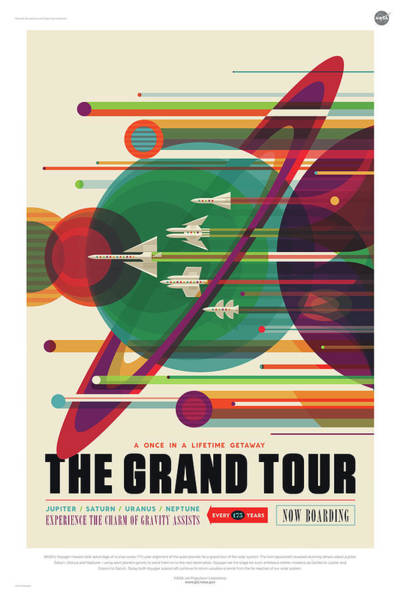 Digital Art - Nasa The Grand Tour Poster Art Visions Of The Future by Erik Paul