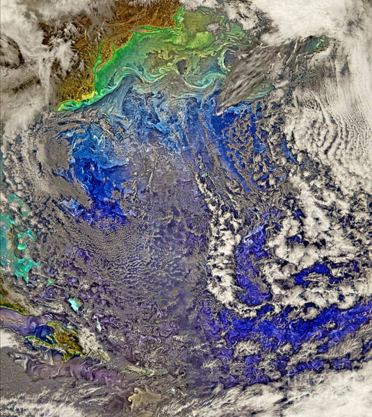 Photograph - Nasa Turbulent North Atlantic Ocean by Rose Santuci-Sofranko