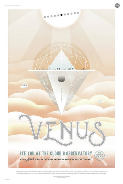 Digital Art - Nasa Venus Poster Art Visions Of The Future by Erik Paul