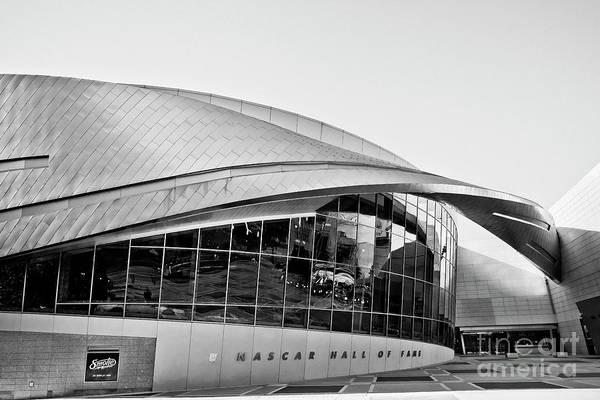 Photograph - Nascar Hall Of Fame Bw by Patrick M Lynch