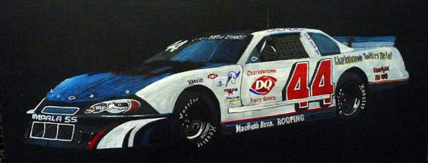 Painting - Nascar No44 by Richard Le Page