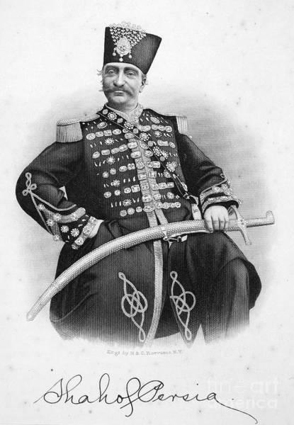 Epaulette Photograph - Naser Al-din (1831-1896) by Granger
