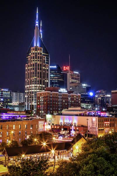 Photograph - Nashville At Night by Kristen Wilkinson