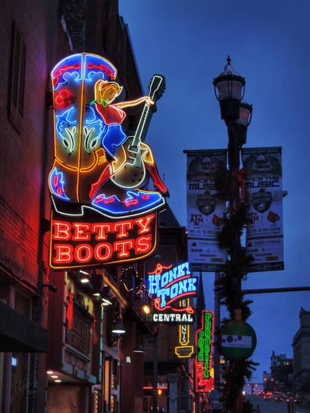 Photograph - Nashville - Broadway 002 by Lance Vaughn