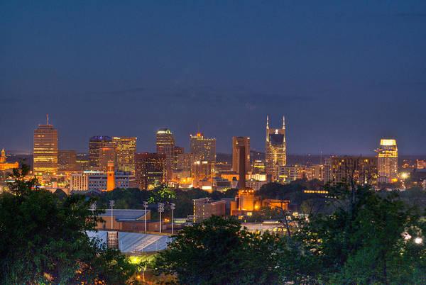 Douglas County Wall Art - Photograph - Nashville By Night 2 by Douglas Barnett