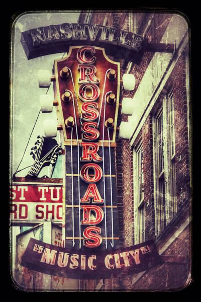 Wall Art - Photograph - Nashville Crossroads - Music City by Debra Martz