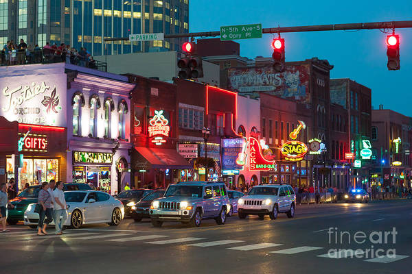 Photograph - Nashville Honky-tonk District I by Clarence Holmes