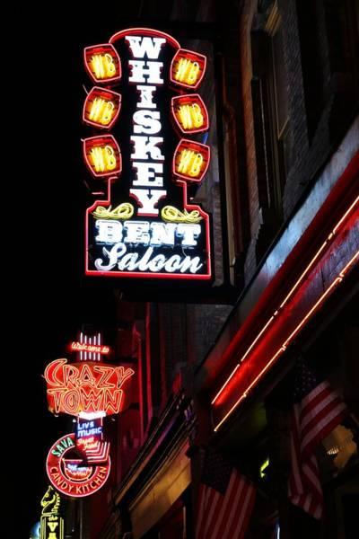 Photograph - Nashville Neon Signs  by Carol Montoya