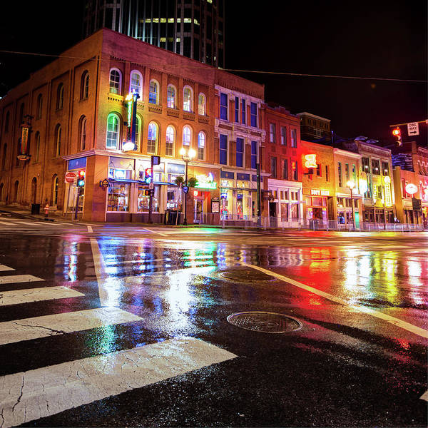 Photograph - Nashville Neons Over Lower Broadway by Gregory Ballos