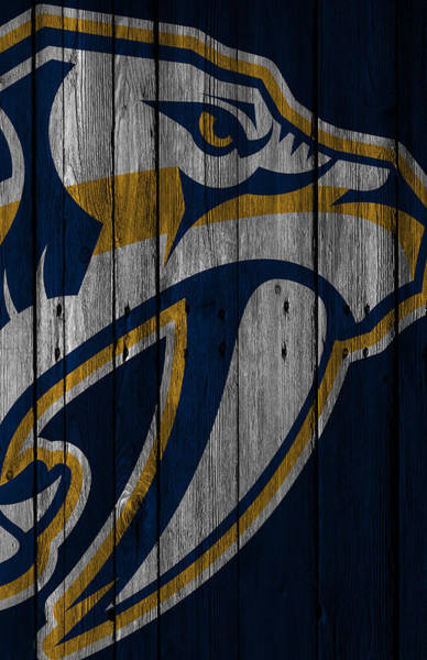 Wall Art - Painting - Nashville Predators Wood Fence by Joe Hamilton