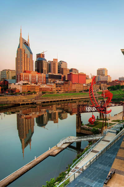 Photograph - Nashville Reflections Of The Skyline by Gregory Ballos