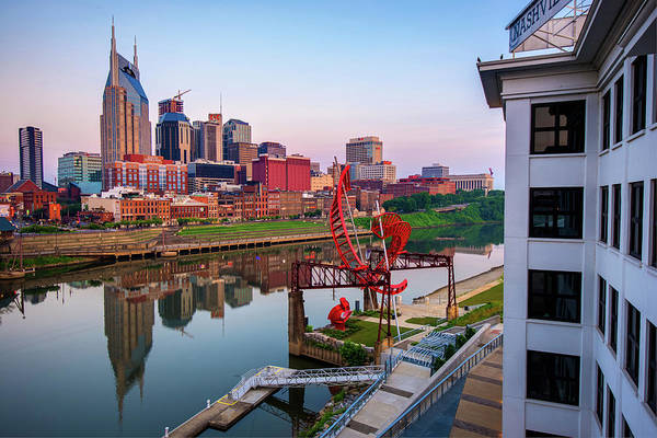 Photograph - Nashville Skyline At Dawn by Gregory Ballos