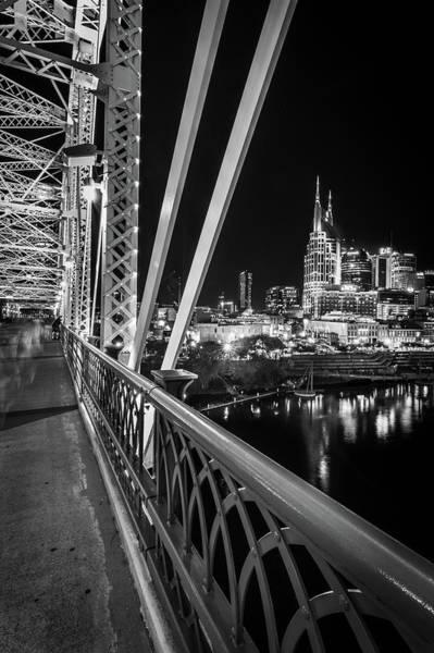 Photograph - Nashville Skyline From The John Seigenthaler Pedestrian Bridge by Kristen Wilkinson