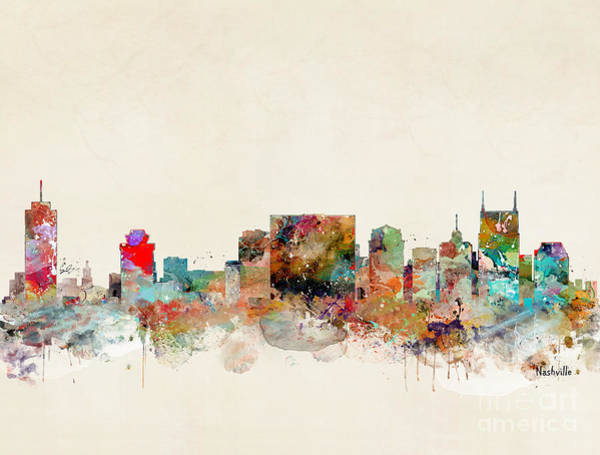 Nashville Wall Art - Painting - Nashville Tennessee by Bri Buckley
