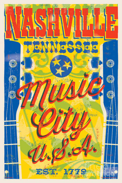 Wall Art - Digital Art - Nashville Tennessee Poster by Jim Zahniser