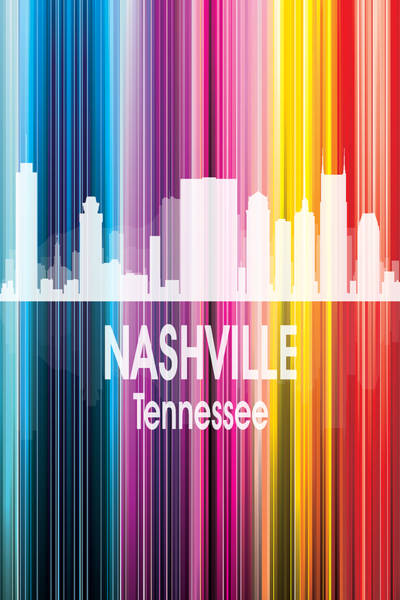 Wall Art - Digital Art - Nashville Tn 2 Vertical by Angelina Tamez