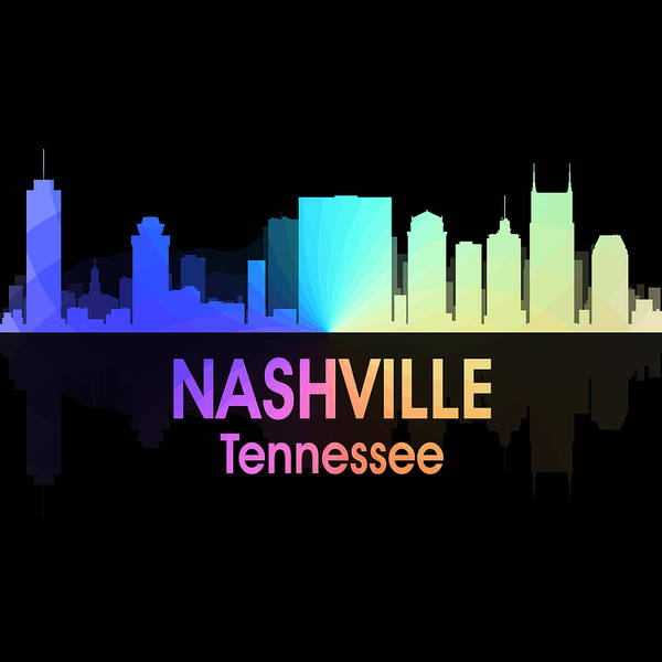 Digital Art - Nashville Tn 5 Squared by Angelina Tamez