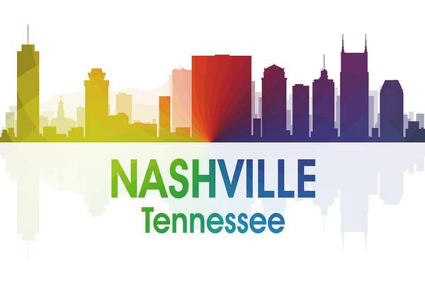 Wall Art - Mixed Media - Nashville Tn by Angelina Tamez