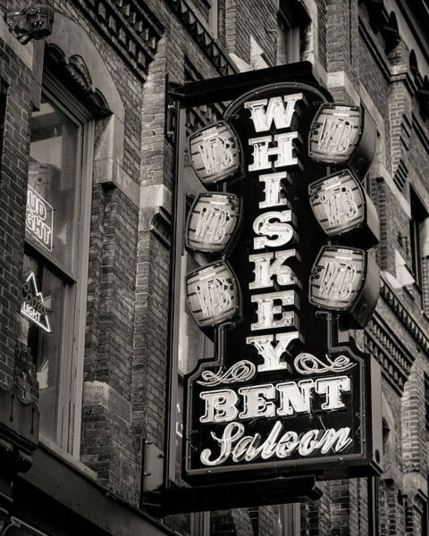 Wall Art - Photograph - Nashville Whiskey Saloon - Bw by Stephen Stookey