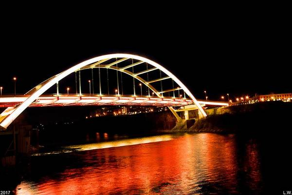 Photograph - Nashville's Gateway Bridge by Lisa Wooten