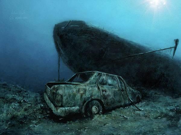 Shipwreck Digital Art - Nasim by Andrea Gatti