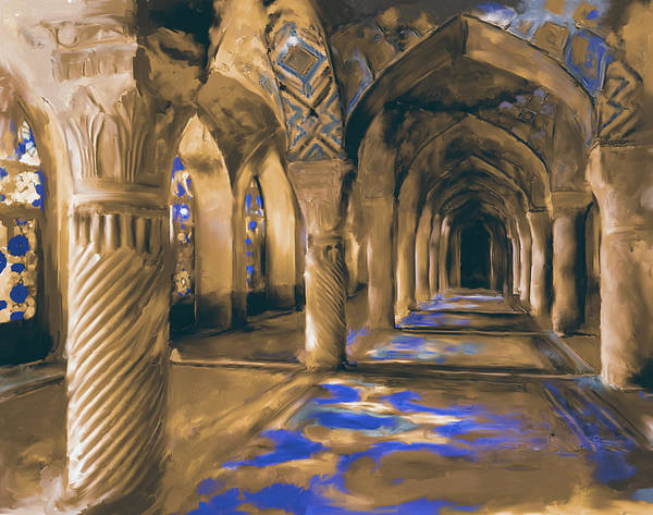 Wall Art - Painting - Nasir Ol Mulk Mosque 682 2 by Mawra Tahreem