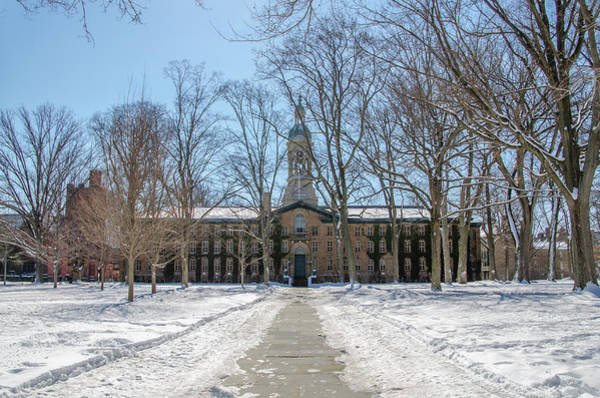 Wall Art - Photograph - Nassau Hall In The Snow - Princeton University by Bill Cannon