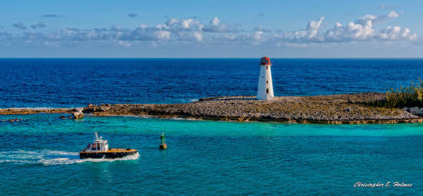 Photograph - Nassau Harbor Lighthouse by Christopher Holmes