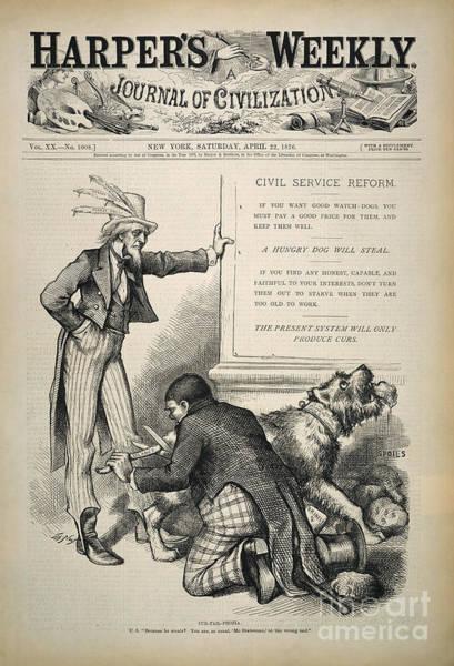 Photograph - Nast: Civil Service Reform by Granger