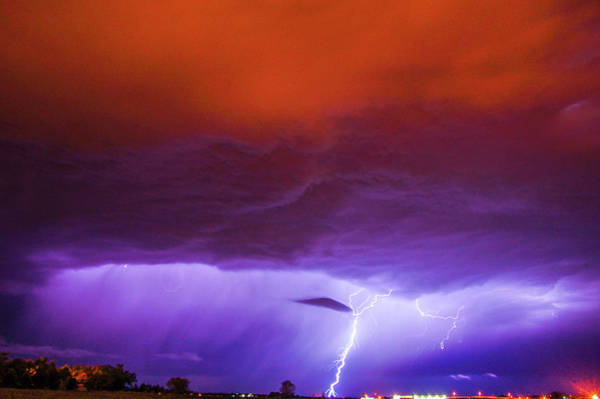 Photograph - Nasty But Awesome Late Night Lightning 002 by NebraskaSC