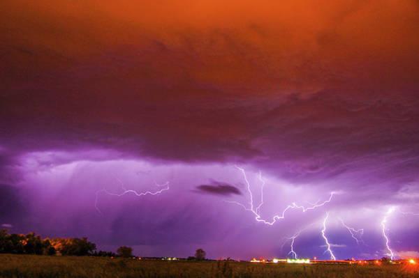 Photograph - Nasty But Awesome Late Night Lightning 003 by NebraskaSC
