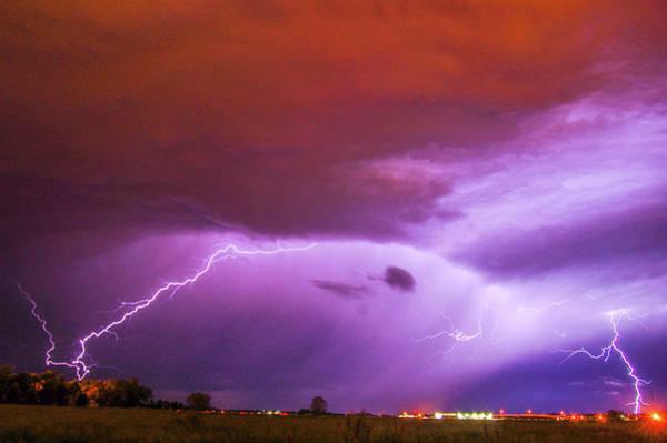 Photograph - Nasty But Awesome Late Night Lightning 004 by NebraskaSC