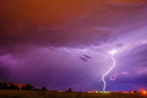Photograph - Nasty But Awesome Late Night Lightning 005 by NebraskaSC