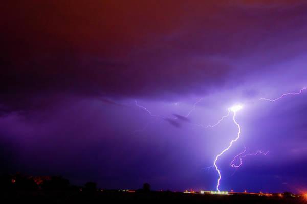 Photograph - Nasty But Awesome Late Night Lightning 006 by NebraskaSC
