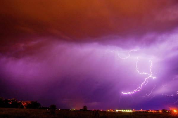 Photograph - Nasty But Awesome Late Night Lightning 007 by NebraskaSC