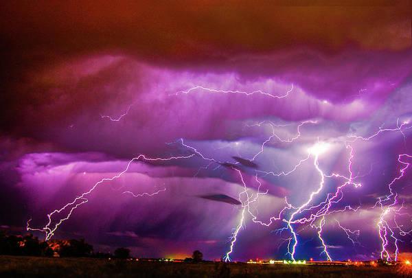 Photograph - Nasty But Awesome Late Night Lightning 008 by NebraskaSC