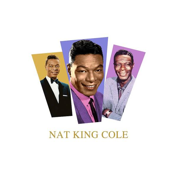 Jazz Trio Digital Art - Nat King Cole by David Richardson