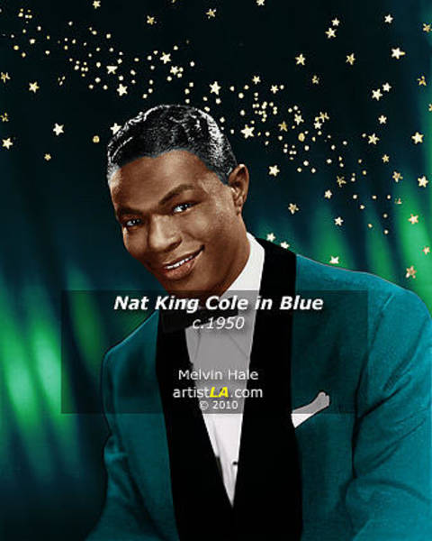Wall Art - Painting - Nat King Cole In Blue C1950 by Melvin Hale ArtistLA