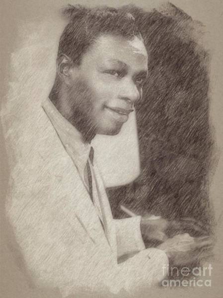 Wizard Drawing - Nat King Cole, Singer by Frank Falcon