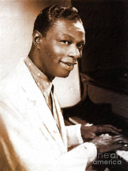 Stardom Painting - Nat King Cole, Singer by Mary Bassett