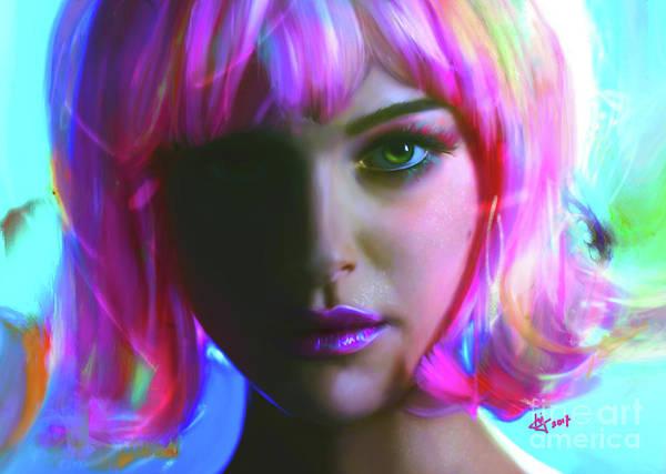Digital Art - Natalie by Jaimy Mokos