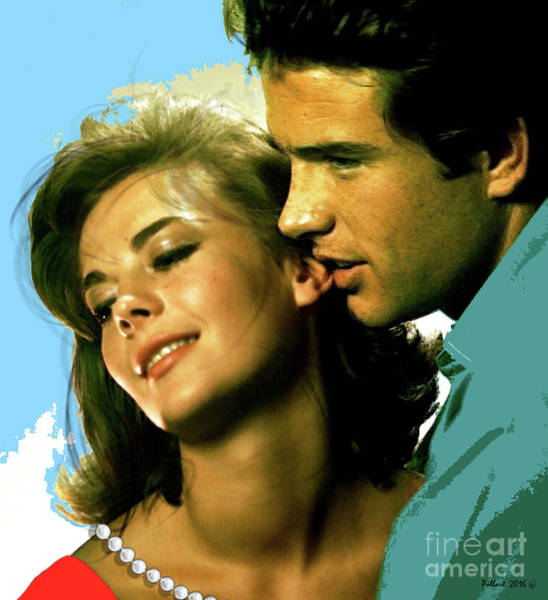 Warren Beatty Mixed Media - Natalie Wood, Warren Beatty, Co-stars Elia Kazan-directed Romantic Drama, Splendor In The Grass by Thomas Pollart