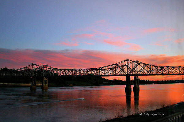 Photograph - Natchez Sunset by Matalyn Gardner