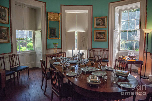 Photograph - Nathaniel Russell Dining Room by Dale Powell