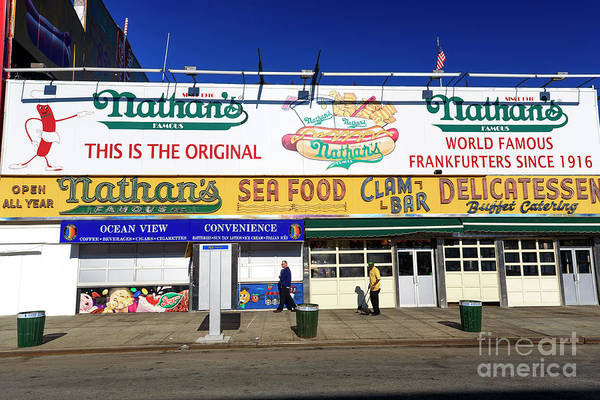 Photograph - Nathan's Coney Island by John Rizzuto