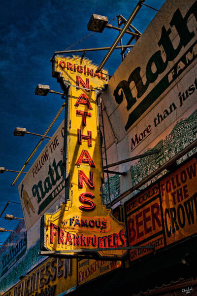 Photograph - Nathans Famous Original Frankfurters  by Chris Lord